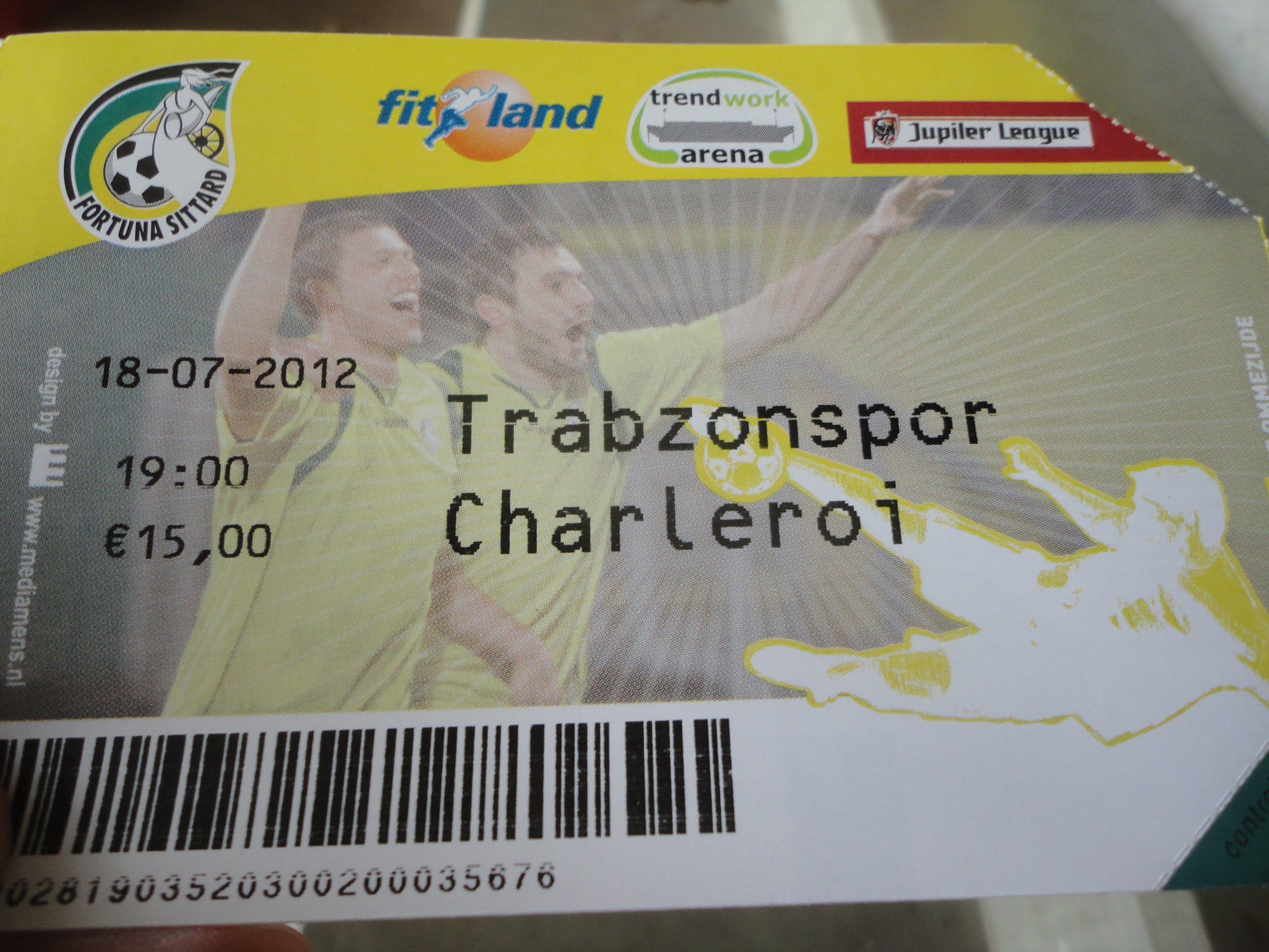 Oefenen in de TWA: Trabzonspor vs. Charleroi
