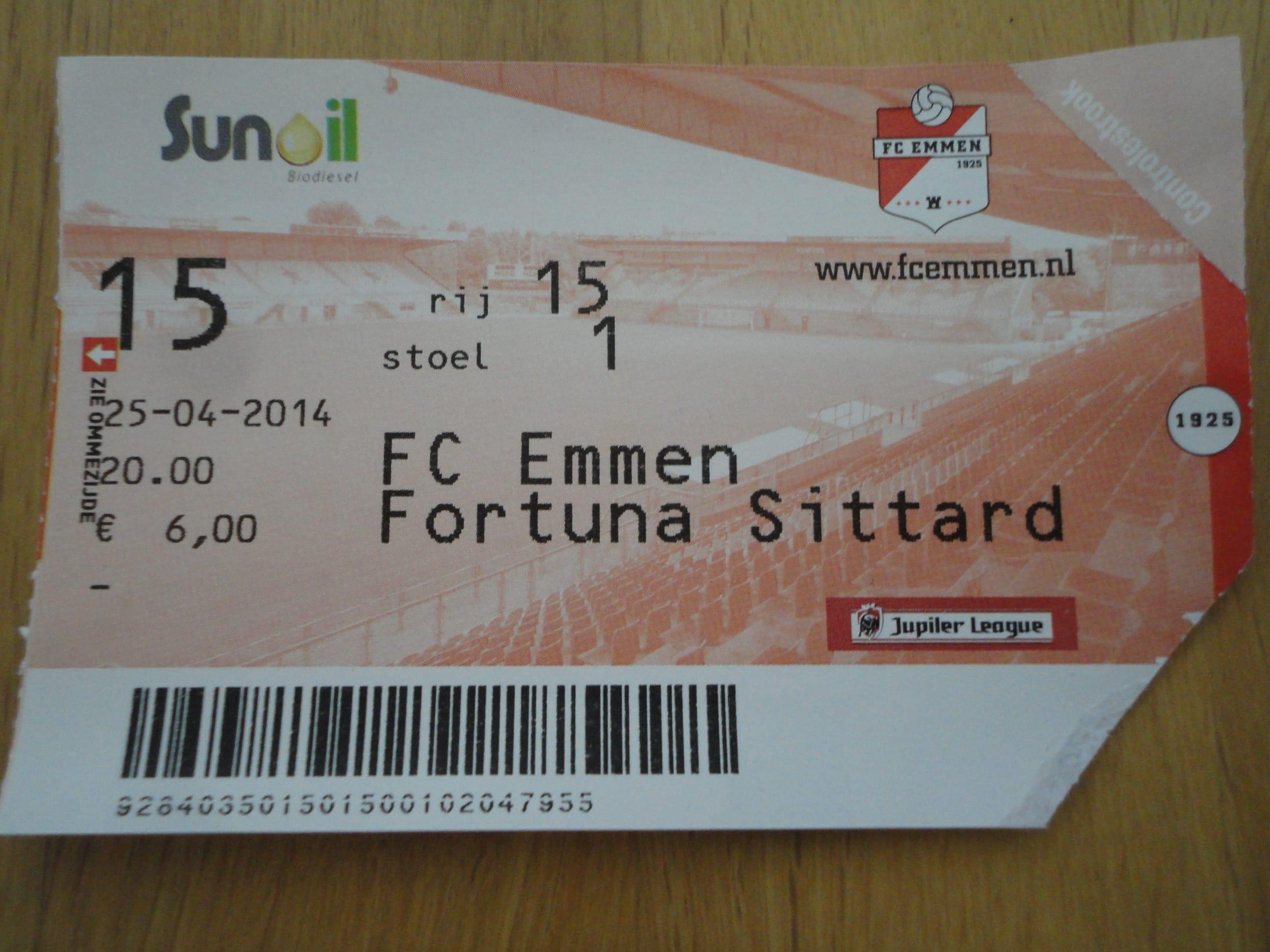 FC Emmen 1 Fortuna Sittard 1