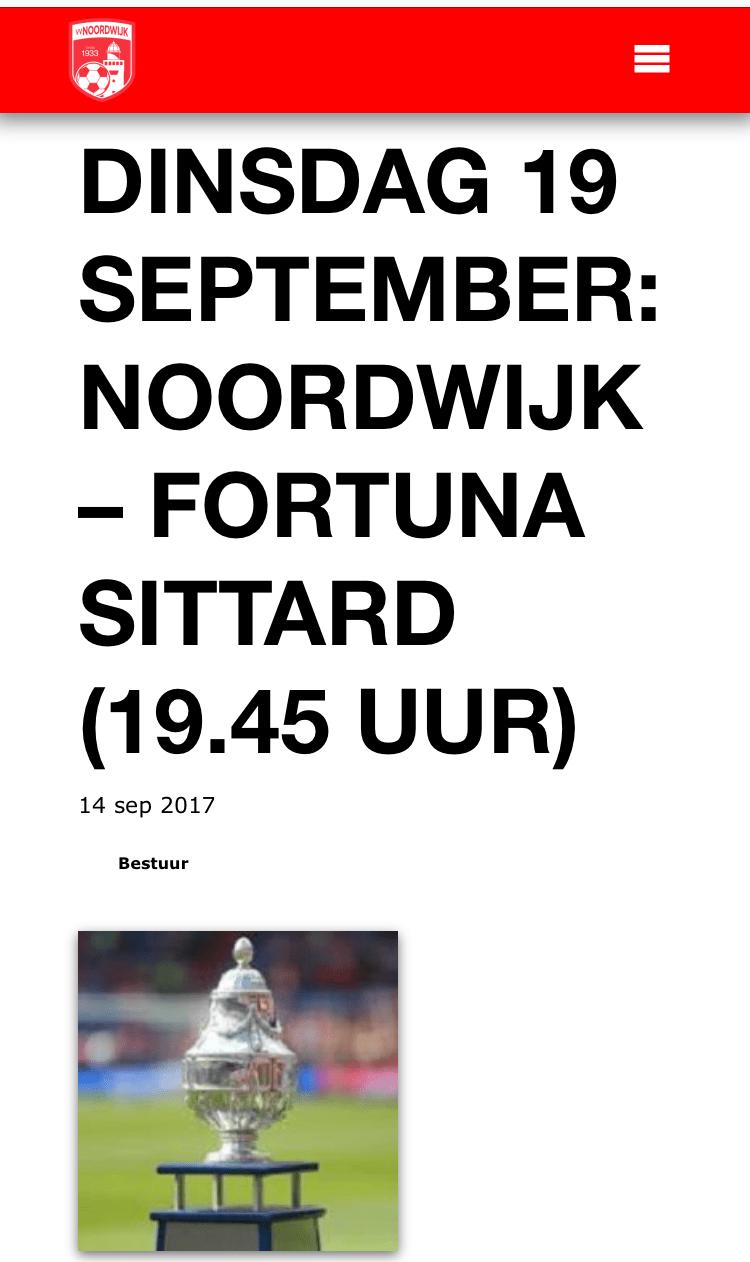 Busreis naar VV Noordwijk afgelast